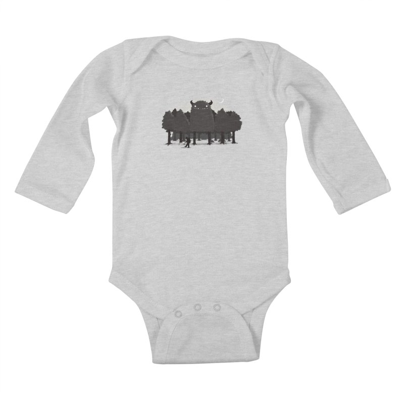 Monster Hunting Kids Baby Longsleeve Bodysuit by DinoMike's Artist Shop