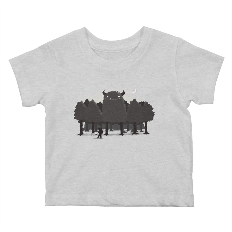 Monster Hunting Kids Baby T-Shirt by DinoMike's Artist Shop
