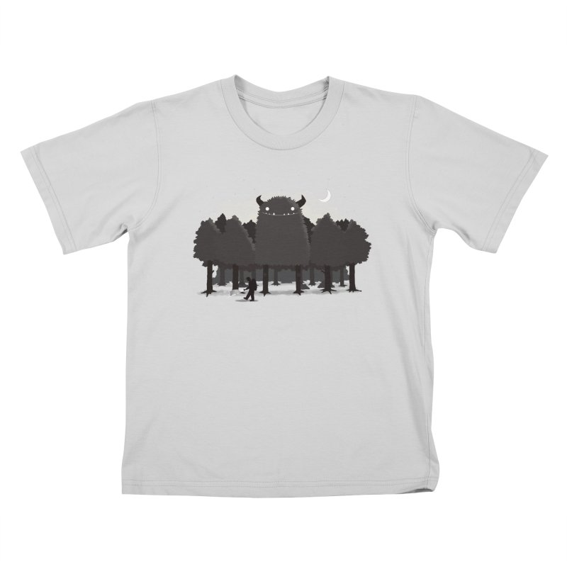 Monster Hunting Kids T-Shirt by DinoMike's Artist Shop