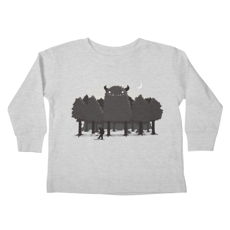 Monster Hunting Kids Toddler Longsleeve T-Shirt by DinoMike's Artist Shop