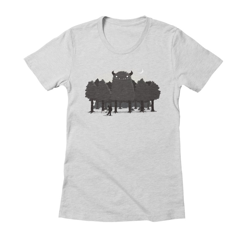 Monster Hunting Women's Fitted T-Shirt by DinoMike's Artist Shop