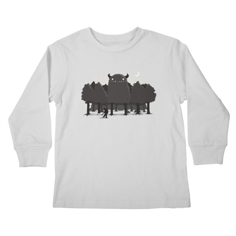 Monster Hunting Kids Longsleeve T-Shirt by DinoMike's Artist Shop