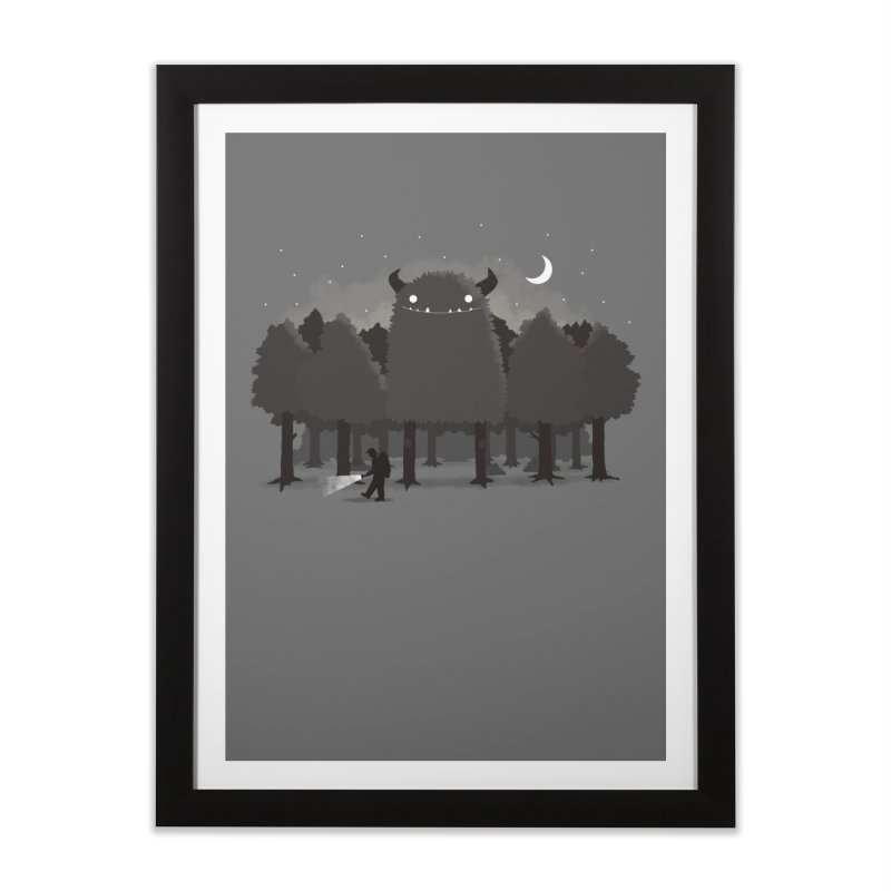Monster Hunting Home Framed Fine Art Print by DinoMike's Artist Shop