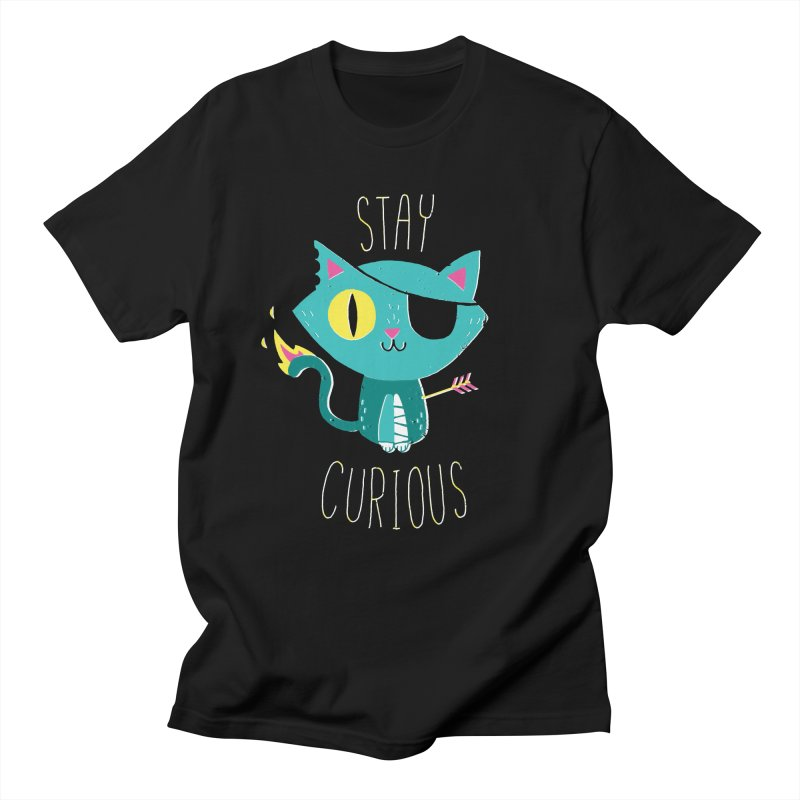 Stay Curious Men's T-Shirt by DinoMike's Artist Shop