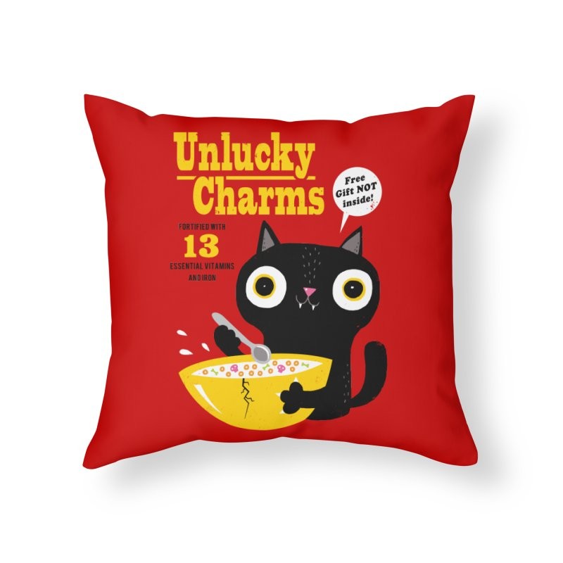 Unlucky Charms Home Throw Pillow by DinoMike's Artist Shop