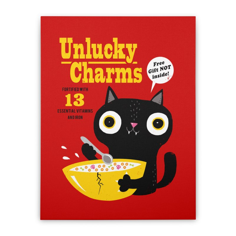 Unlucky Charms Home Stretched Canvas by DinoMike's Artist Shop