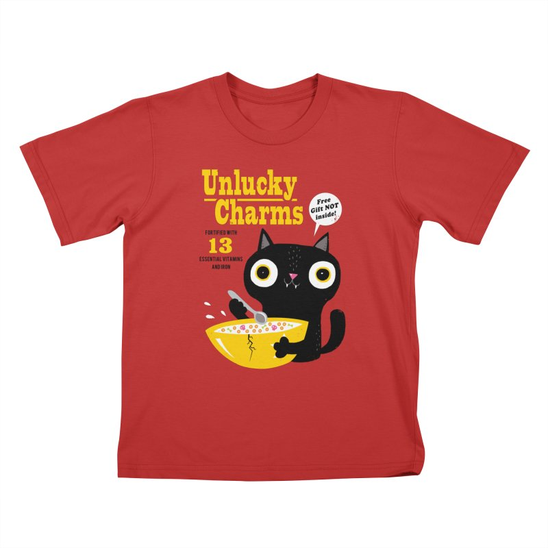 Unlucky Charms Kids T-Shirt by DinoMike's Artist Shop
