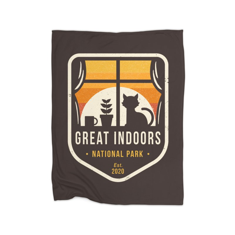 Great Indoors National Park Home Blanket by DinoMike's Artist Shop