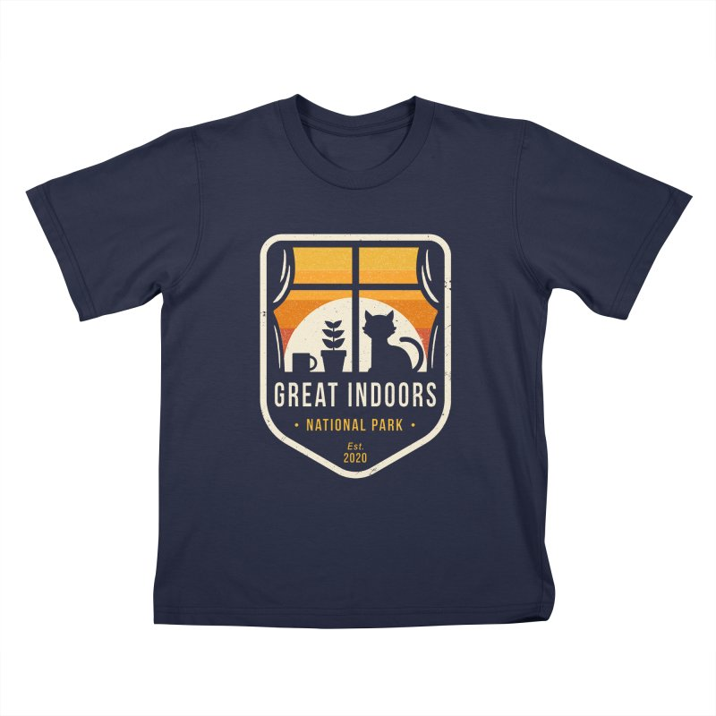 Great Indoors National Park Kids T-Shirt by DinoMike's Artist Shop