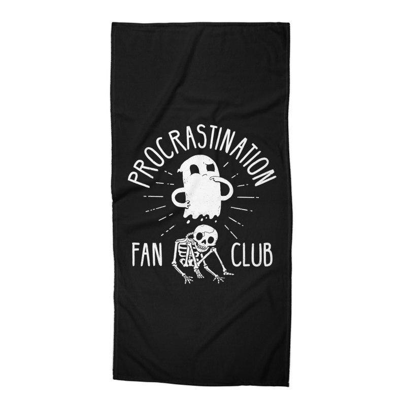 Procrastination Fan Club Accessories Beach Towel by DinoMike's Artist Shop