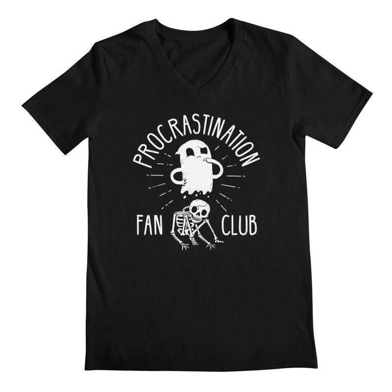 Procrastination Fan Club Men's V-Neck by DinoMike's Artist Shop