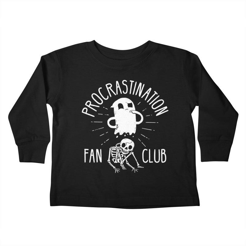 Procrastination Fan Club Kids Toddler Longsleeve T-Shirt by DinoMike's Artist Shop