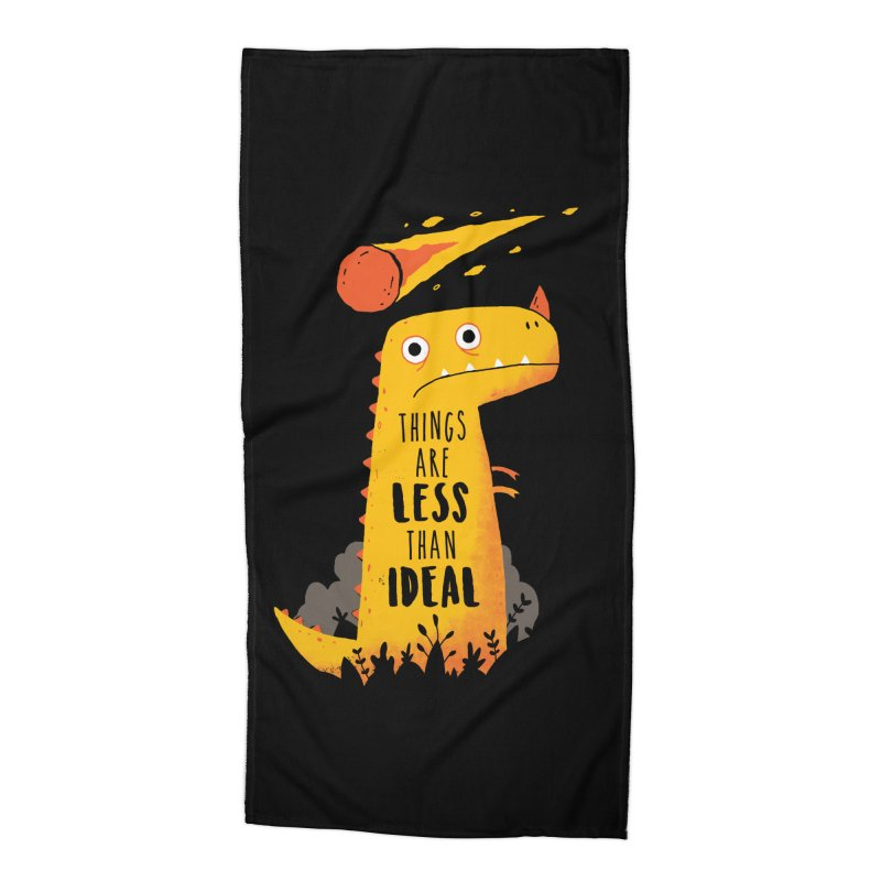 Less Than Ideal Accessories Beach Towel by DinoMike's Artist Shop