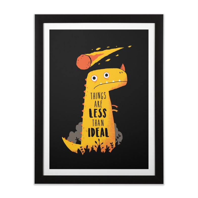 Less Than Ideal Home Framed Fine Art Print by DinoMike's Artist Shop