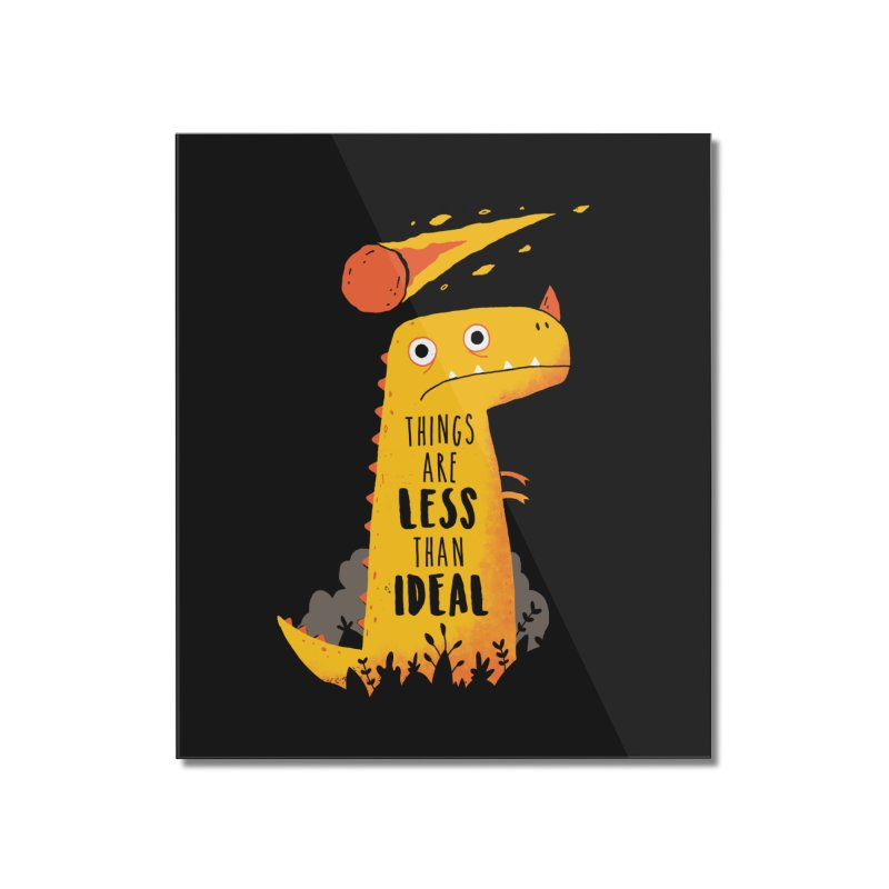 Less Than Ideal Home Mounted Acrylic Print by DinoMike's Artist Shop