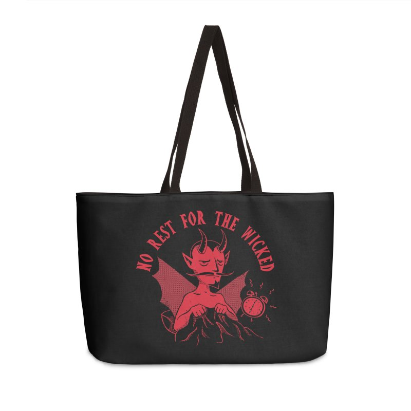 No Rest For The Wicked Accessories Bag by DinoMike's Artist Shop