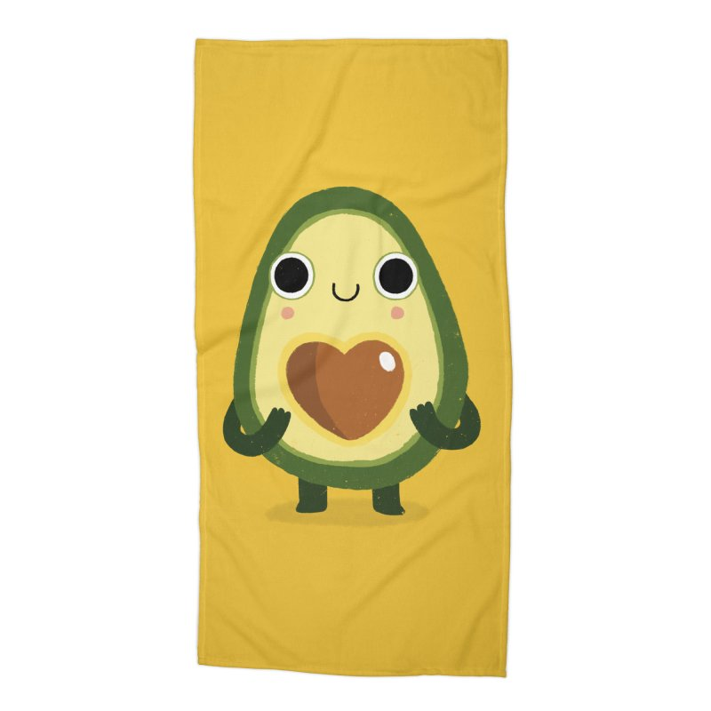 Luvocado Accessories Beach Towel by DinoMike's Artist Shop