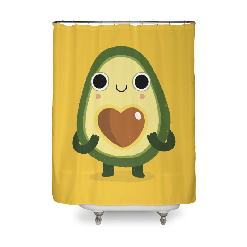 Luvocado Home Shower Curtain by DinoMike's Artist Shop