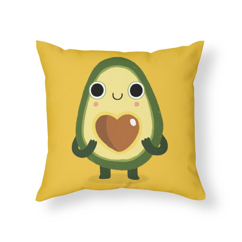 Luvocado Home Throw Pillow by DinoMike's Artist Shop