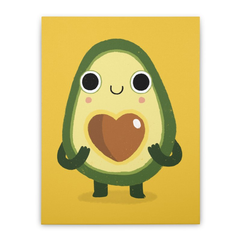 Luvocado Home Stretched Canvas by DinoMike's Artist Shop