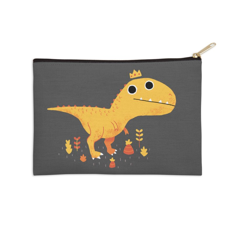 Tyrant Lizard King Accessories Zip Pouch by DinoMike's Artist Shop