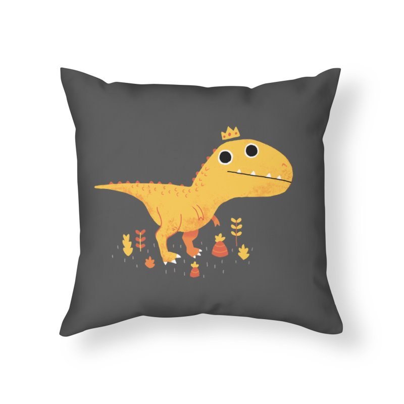 Tyrant Lizard King Home Throw Pillow by DinoMike's Artist Shop