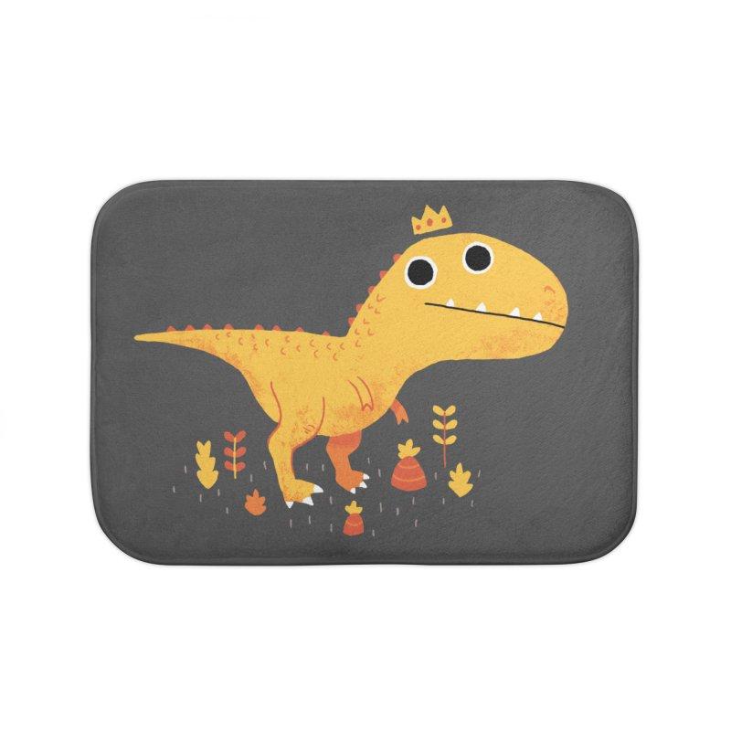 Tyrant Lizard King Home Bath Mat by DinoMike's Artist Shop