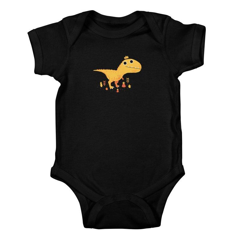 Tyrant Lizard King Kids Baby Bodysuit by DinoMike's Artist Shop