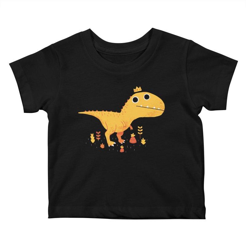 Tyrant Lizard King Kids Baby T-Shirt by DinoMike's Artist Shop