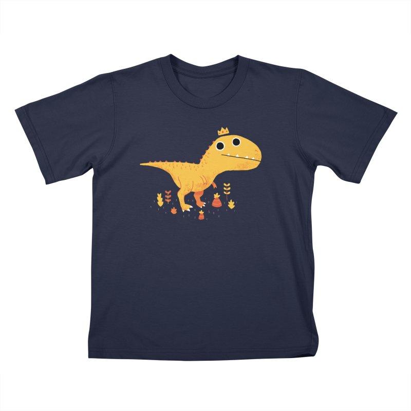 Tyrant Lizard King Kids T-Shirt by DinoMike's Artist Shop