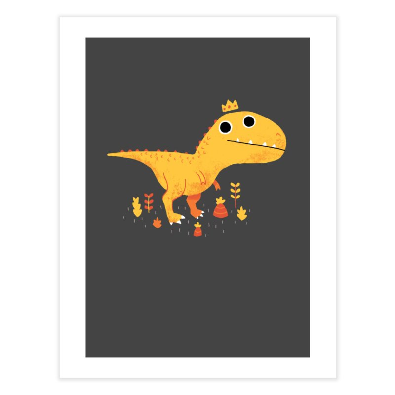 Tyrant Lizard King Home Fine Art Print by DinoMike's Artist Shop