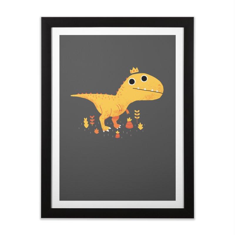 Tyrant Lizard King Home Framed Fine Art Print by DinoMike's Artist Shop
