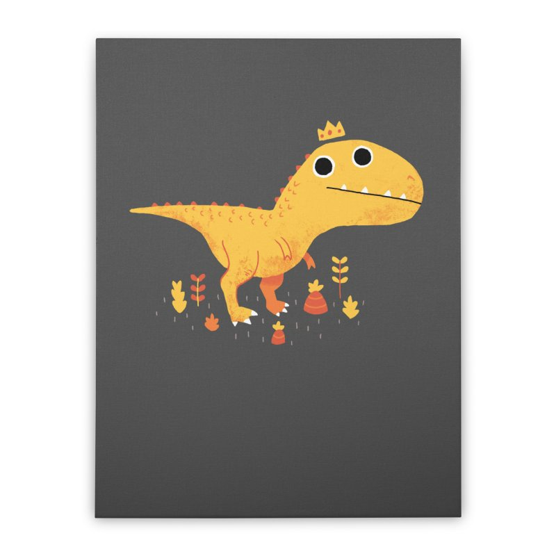 Tyrant Lizard King Home Stretched Canvas by DinoMike's Artist Shop