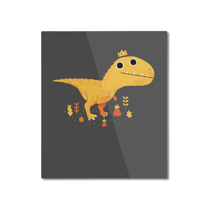 Tyrant Lizard King Home Mounted Aluminum Print by DinoMike's Artist Shop