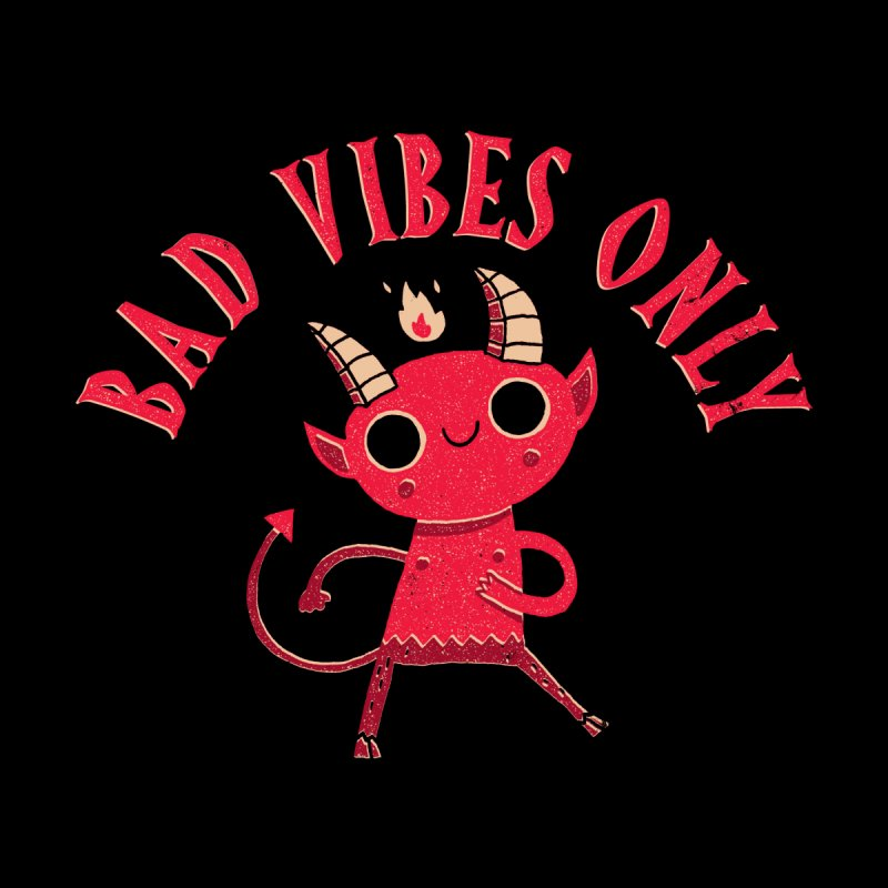 Bad Vibes Men's Zip-Up Hoody by DinoMike's Artist Shop