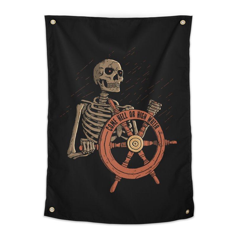 Come Hell or High Water Home Tapestry by DinoMike's Artist Shop