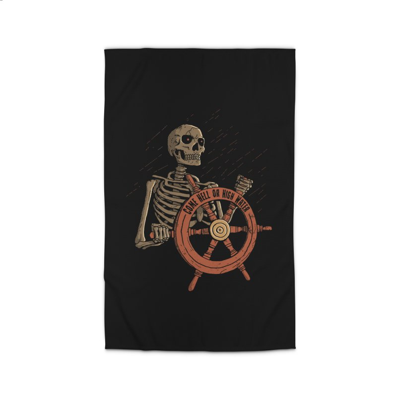Come Hell or High Water Home Rug by DinoMike's Artist Shop