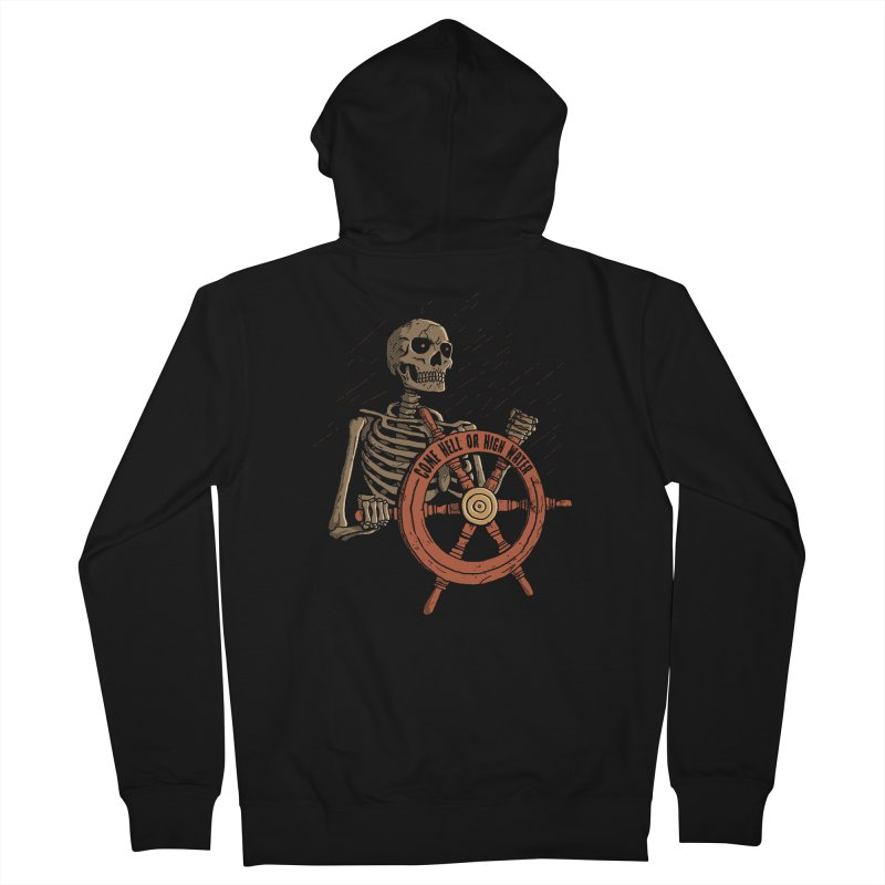 Come Hell or High Water Men's Zip-Up Hoody by DinoMike's Artist Shop