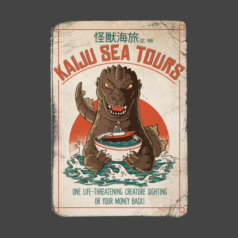 Kaiju Sea Tours Home Mounted Acrylic Print by DinoMike's Artist Shop