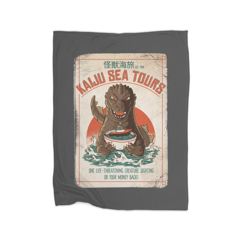 Kaiju Sea Tours Home Blanket by DinoMike's Artist Shop