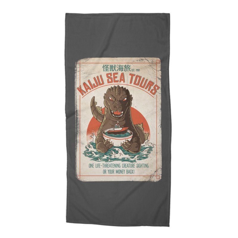Kaiju Sea Tours Accessories Beach Towel by DinoMike's Artist Shop