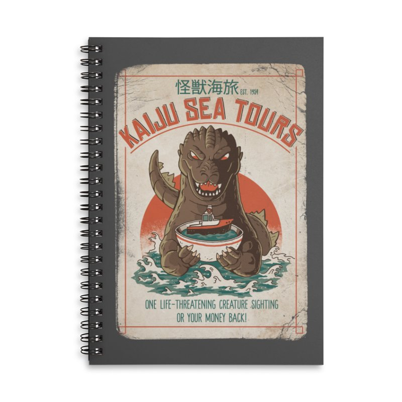 Kaiju Sea Tours Accessories Notebook by DinoMike's Artist Shop