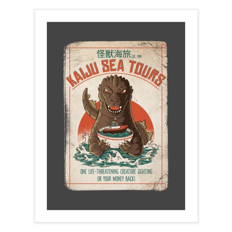 Kaiju Sea Tours Home Fine Art Print by DinoMike's Artist Shop