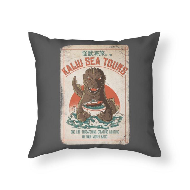 Kaiju Sea Tours Home Throw Pillow by DinoMike's Artist Shop