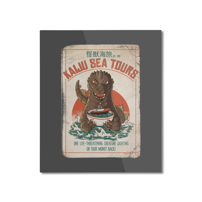 Kaiju Sea Tours Home Mounted Aluminum Print by DinoMike's Artist Shop