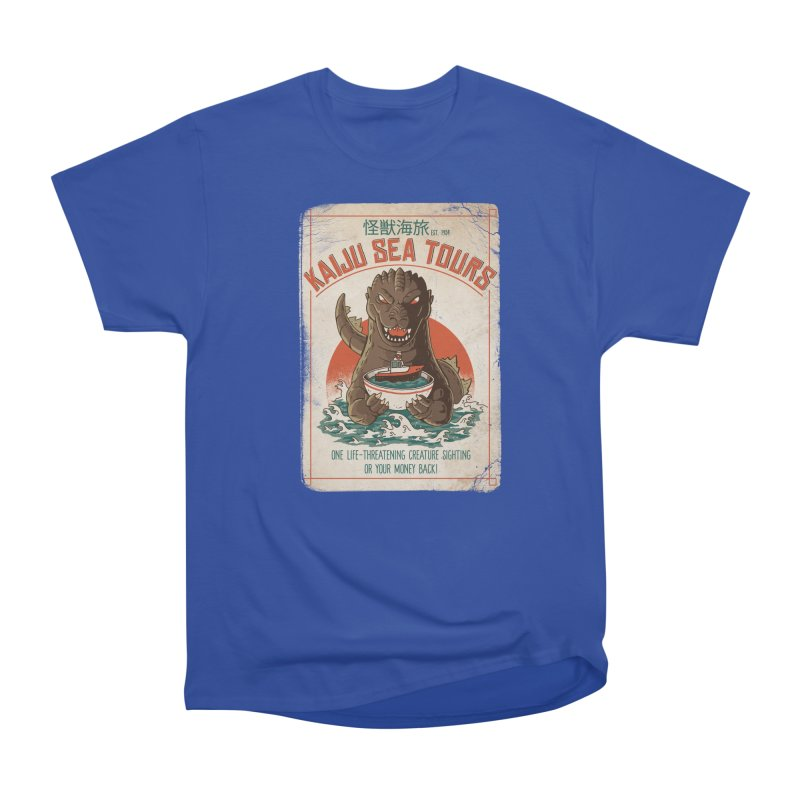 Kaiju Sea Tours Men's T-Shirt by DinoMike's Artist Shop