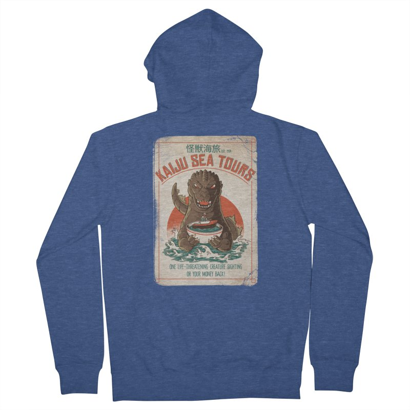 Kaiju Sea Tours Men's Zip-Up Hoody by DinoMike's Artist Shop