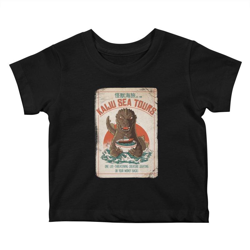 Kaiju Sea Tours Kids Baby T-Shirt by DinoMike's Artist Shop