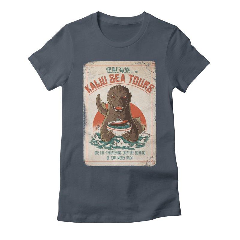 Kaiju Sea Tours Women's T-Shirt by DinoMike's Artist Shop