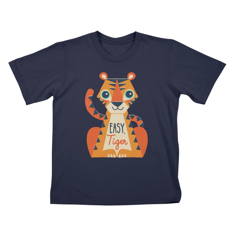 Easy Tiger Kids T-Shirt by DinoMike's Artist Shop